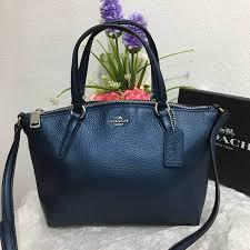 coach mini kelsey satchel in pebble leather