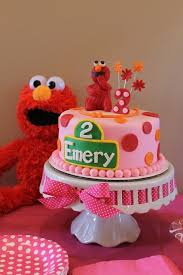 Elmo Birthday Party For A Girl Second Birthday Pink Red Orange