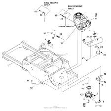 Bunton bobcat ryan 642296f rocket 19hp kaw w52 side discharge diagram frame engine clutch assy