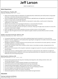 Examples Of Pharmacy Technician Resumes Free Resume Example And