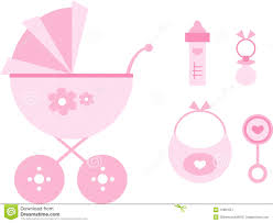 Baby Things Clipart Clip Art Set Baby Pink Stock Vector Illustration Of Isolated