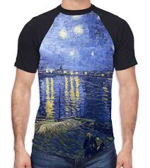 Rhone Size Chart Details About Van Gogh Starry Night Over The River Rhone Mens All Over Baseball T Shirt Art