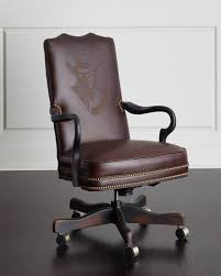Old office chair Abandoned Office Horchow Old Hickory Tannery Clint Leather Office Chair