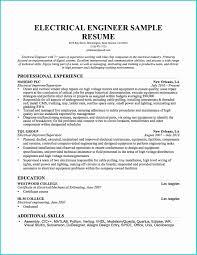Electrical Engineer Sample Resume Luxury Resume Skills And Abilities