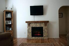 electric fireplace stone castlecreek electric stone fireplace heater