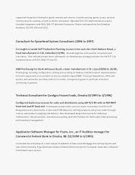 Samples Of Chronological Resumes