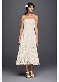floral cutout lace tea length wedding dress david s bridal