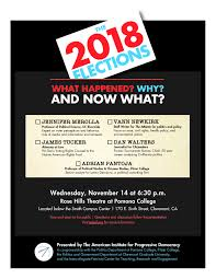 Political Event Flyer The 2018 Elections What Happened Why And Now What Events