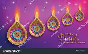 Smu Celebration Of Lights Diya Lamp Fire Lighting Diwali Deepavali Stock Vector