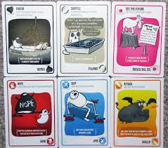 exploding kittens card game. Simple Game Exploding Kittens Instruction Cards On Card Game E