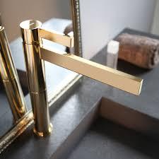 caso polished gold modern bathroom faucet