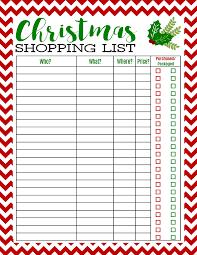 Freebie Printable Christmas Shopping List - Mom 4 Real