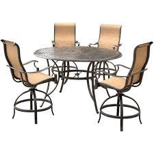 patio ideas stone top bar height patio table agio somerset 5 piece aluminum round outdoor
