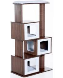 modern cat tree furniture. pawhut 54u0027 mid century modern modular cat tree coffeewhite furniture i