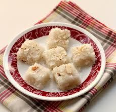 easy coconut burfee recipe without condensed milk
