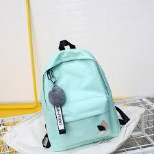 2018 Solid Backpack Girl School Bags For Teenage College Wind Women