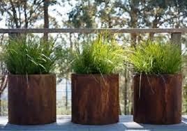 round planter corten steel sharp engineering