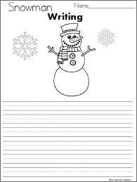 Template Of A Snowman Snowman Writing Template Madebyteachers