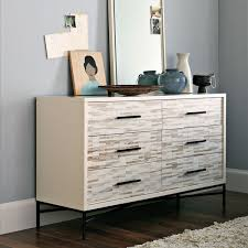 wood tiled drawer chest  west elm uk