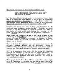 second amendment committee documents  1st letter to gov pete wilson pg 2