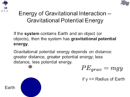 3 energy of gravitational interaction gravitational potential
