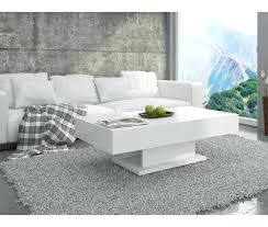 high gloss coffee table white tables tiffany black rectangular with led lighting