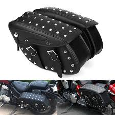 motorcycle pu leather saddlebags side bag for harley sportster 1200xl 883 cod