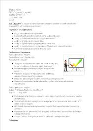 Sales Analyst Resume Sales Operations Analyst Resume Templates At