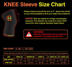 Knee Sleeve Size Chart Amazon Com Copperhealth Copper Knee Brace Copper Knee