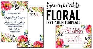design templates for invitations floral invitation template free printable paper trail design