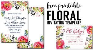 design templates for invitations floral invitation template free printable paper trail design
