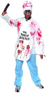 sentinel zombie kitchen costumes free blood s butcher chef fancy dress