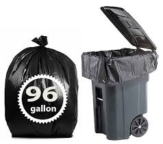 toter 96 gallon. Toter 96 Gallon Trash Bags By Primode - 25 Count Extra Heavy Duty Black Garbage