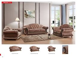 Versace Living Room Furniture Brown Fabric Versace Living Room Set Sofa Loveseat Chair Esf