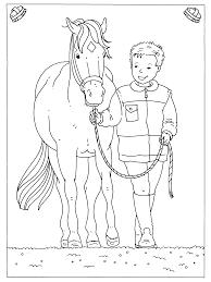 Kleurplaten Paradijs Kleurplaat Jongen Met Paard