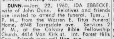 Obituary for IDA DUNN - Newspapers.com