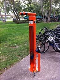 caltech bike lab check out the new dero fixit diy bike repair stand outside chandler dining hall and red door cafe