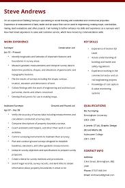 Professional Cv Quantity Surveyor Example Good Resume Template