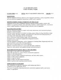 Heavy Equipment Operator Resume Samples Timhangtotnet