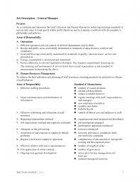 Sales Resume Retail Manager Job Description General Picture