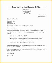 8 Letter From Employer Verifying Employment Besttemplates