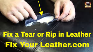 leather tear repair large tear in bycast leather