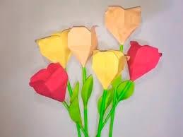 Easy Paper Origami Flower Paper Easy Paper Tulip Origami Flower Easy Paper Tulip