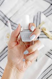 trim and shape your clean nails to your liking and add 2 coats of polish to each nail with dry time between each coat