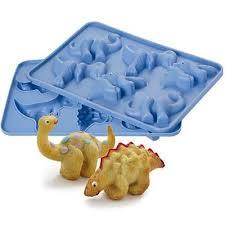Lakeland 6 Hole 3d Dinosaur Birthday Cake Silicone Mould 3 Species