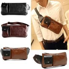 mens vintage waist bag pu leather travel chest belt hip purse waist pack pouch handbag bags for women from flaky 28 37 dhgate com