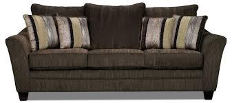 The Brick Living Room Furniture Allen Chenille Sofa Chocolate The Brick