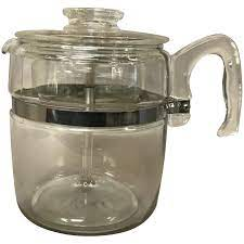 The beauty of this coffee percolator is that you can see the way a percolator works. Vintage Pyrex Flameware 9 Cup Glass Coffee Pot Percolator Cameo Antique Mall Ruby Lane