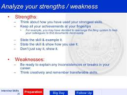 Resume Strengths And Weaknesses Good Resume Examples Strengths And