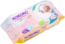 Отзывы о <b>Салфетки влажные</b> Kokoro <b>детские</b> 60шт - рейтинг ...